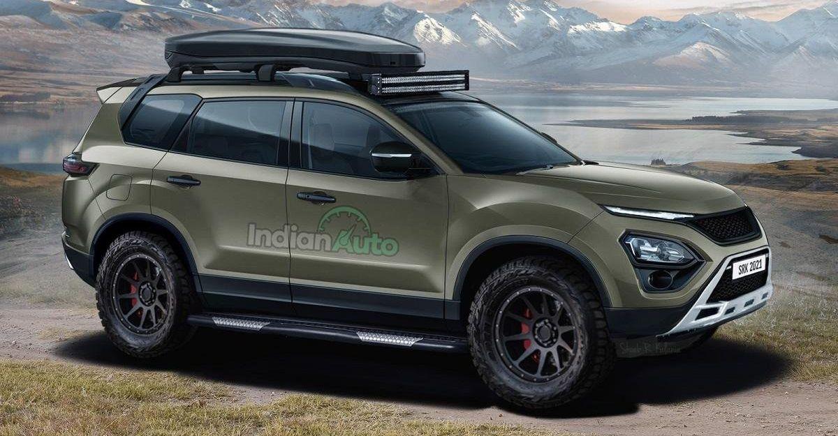 Upcoming Tata Safari imagined as an off-road SUV