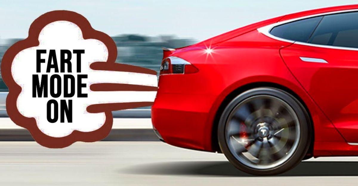 Tesla's latest update lets drivers 'fart instead of honk'