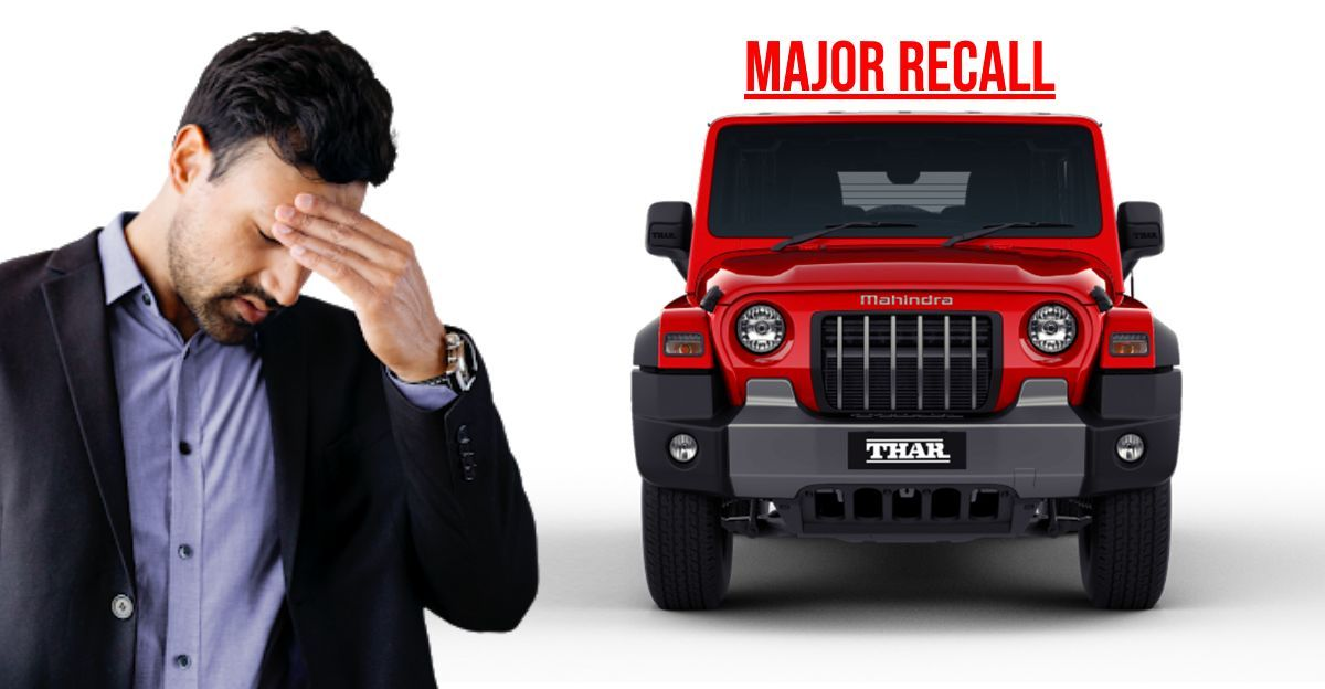 Mahindra recalls 2020 Thar Diesel for camshaft issues