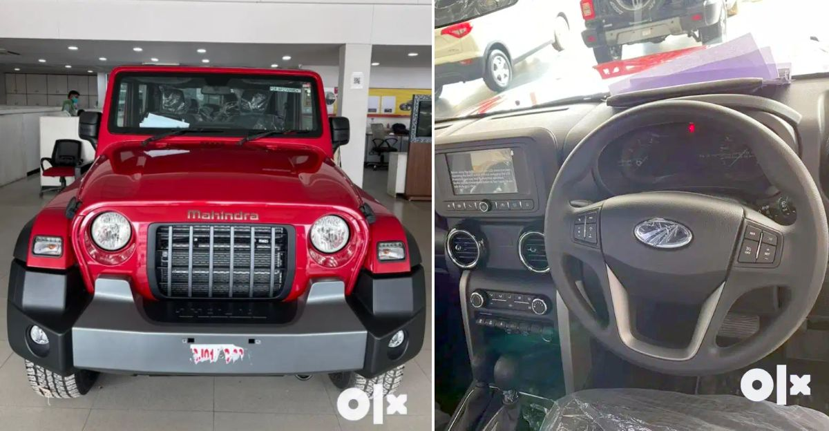4 almost-new Mahindra Thar available for sale in the used car market