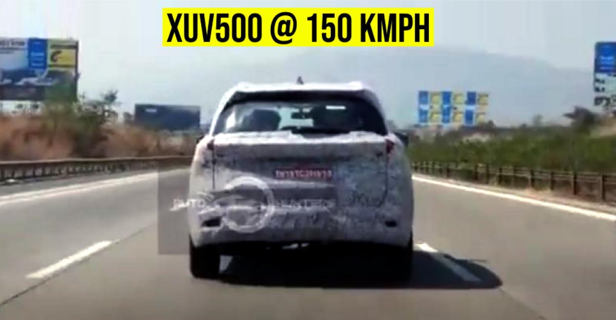 All-new Mahindra XUV500 caught testing at 150 km/h