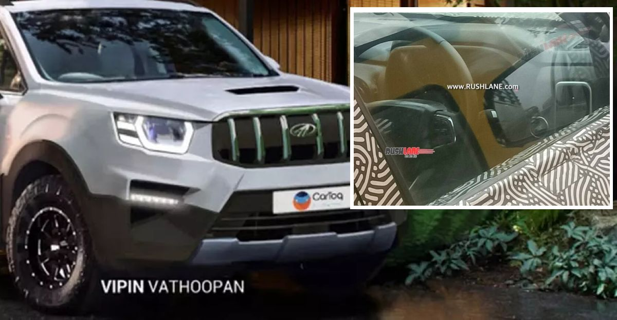 2021 Mahindra Scorpio interior & sunroof spied
