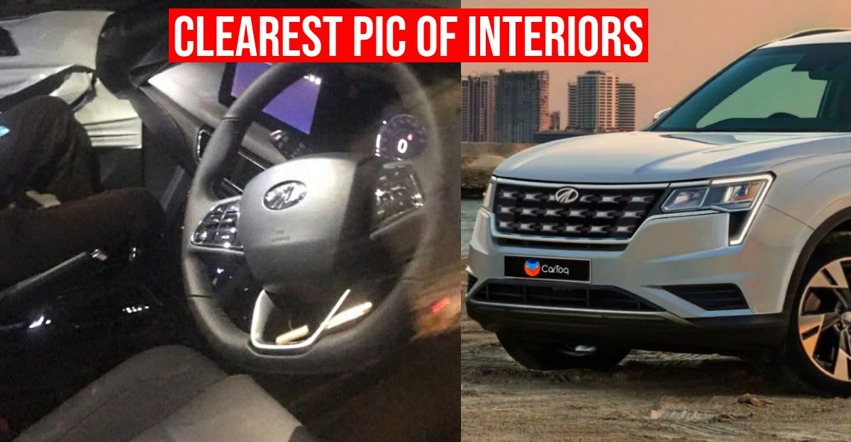 2021 Mahindra XUV500 cabin revealed in new spy picture