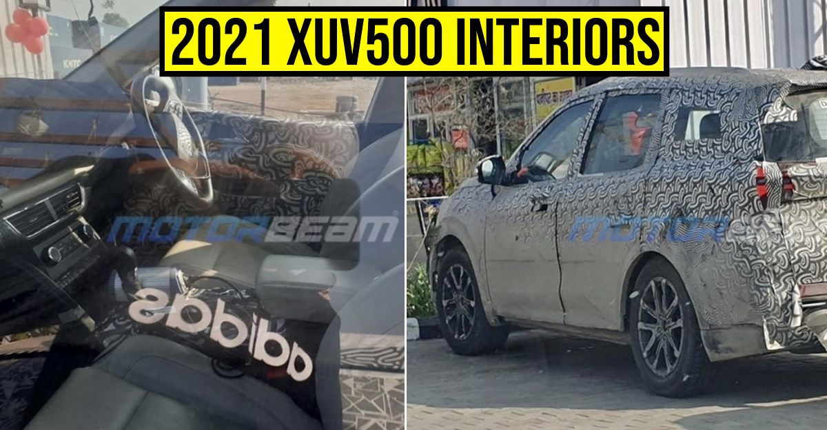 2021 Mahindra XUV500 spotted: Reveals new interior details