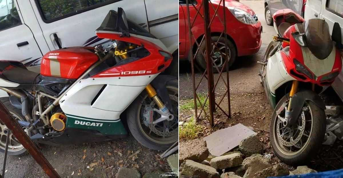 Limited-edition, 35 lakh rupee Ducati 1098 S Tricolore superbike ABANDONED in India