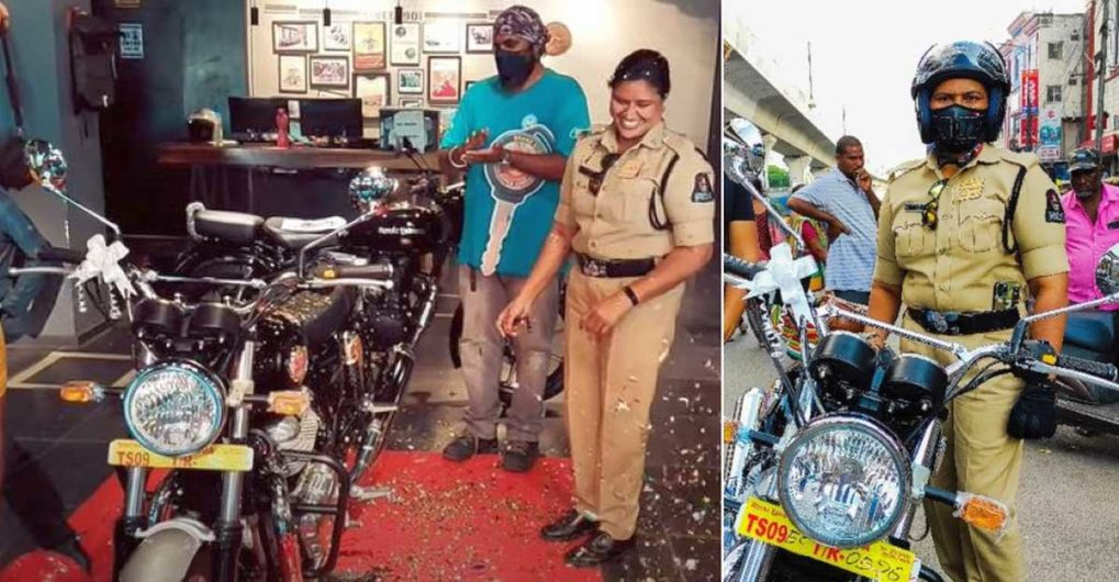 First cop to buy Royal Enfield Interceptor 650 explains why she chose the motorcycle - CarToq.com