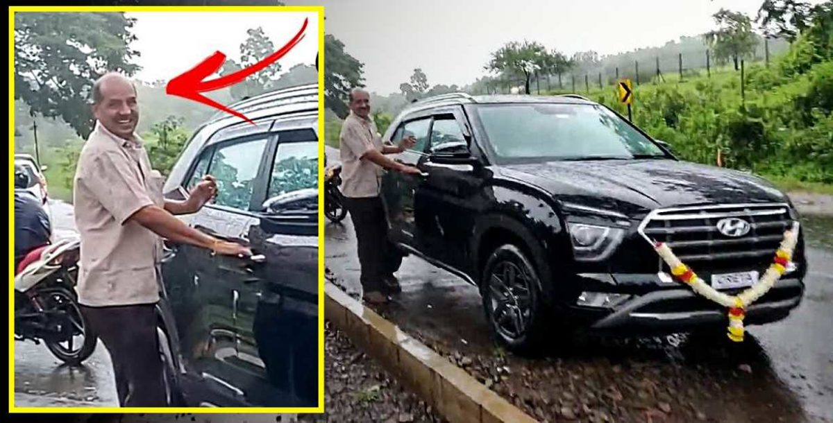 Dad gets emotional after son gifts him a brand new Hyundai Creta