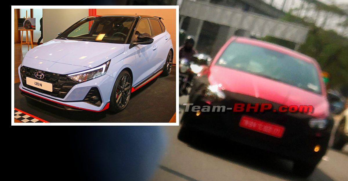 Hyundai i20 N-Line high performance hatchback spied testing in India