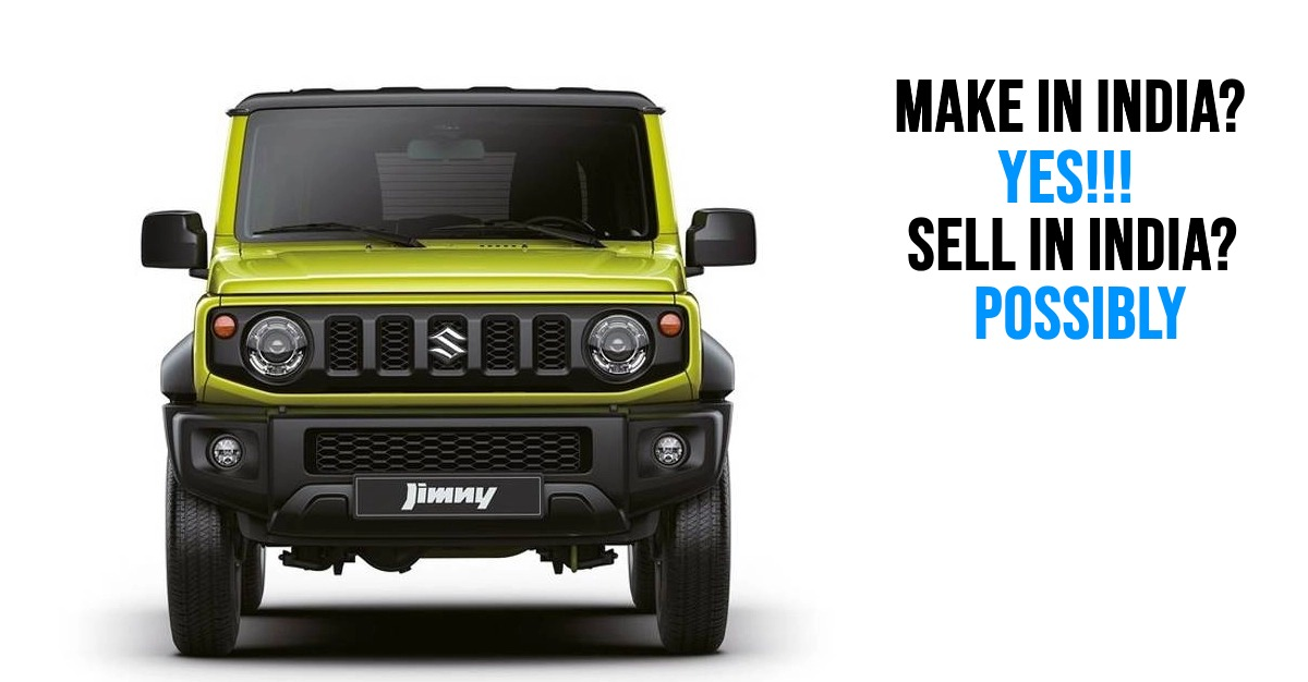 Maruti Suzuki confirms that the Jimny is under evaluation for India