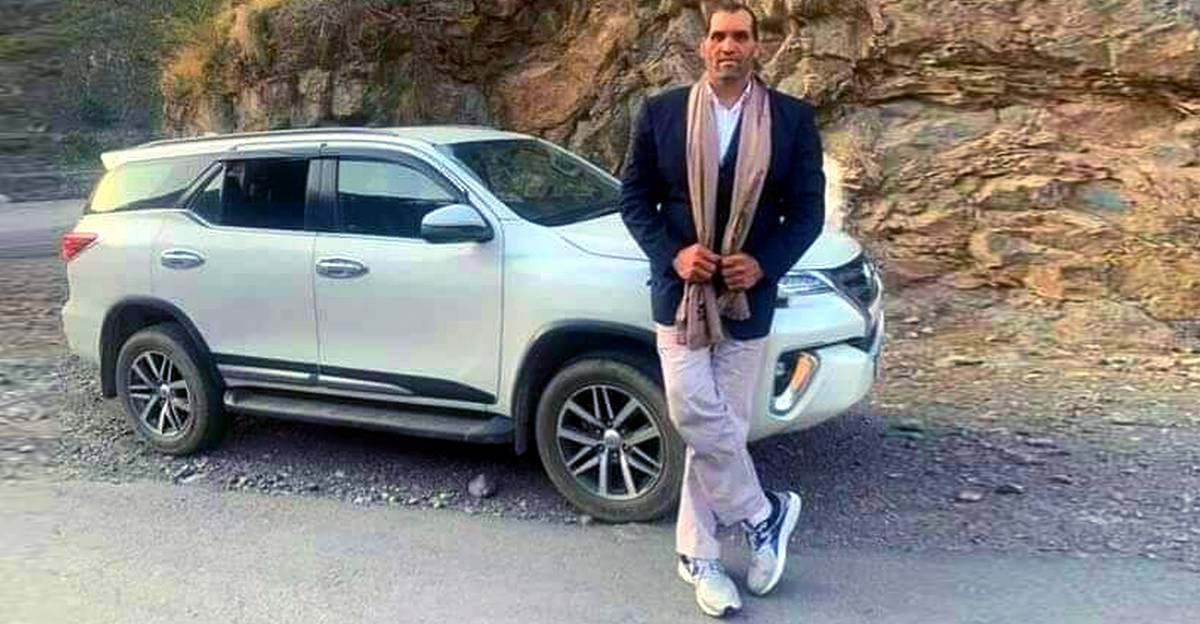The Great Khali makes the Toyota Fortuner look like a hatchback