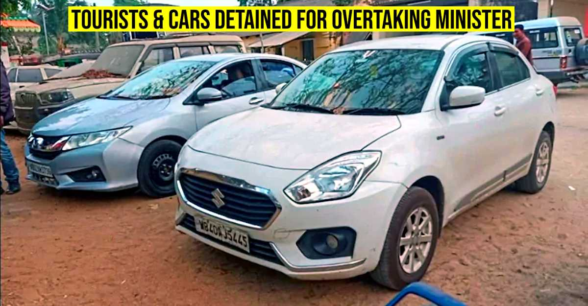 Tourists detained in police station for overtaking Union Minister's car
