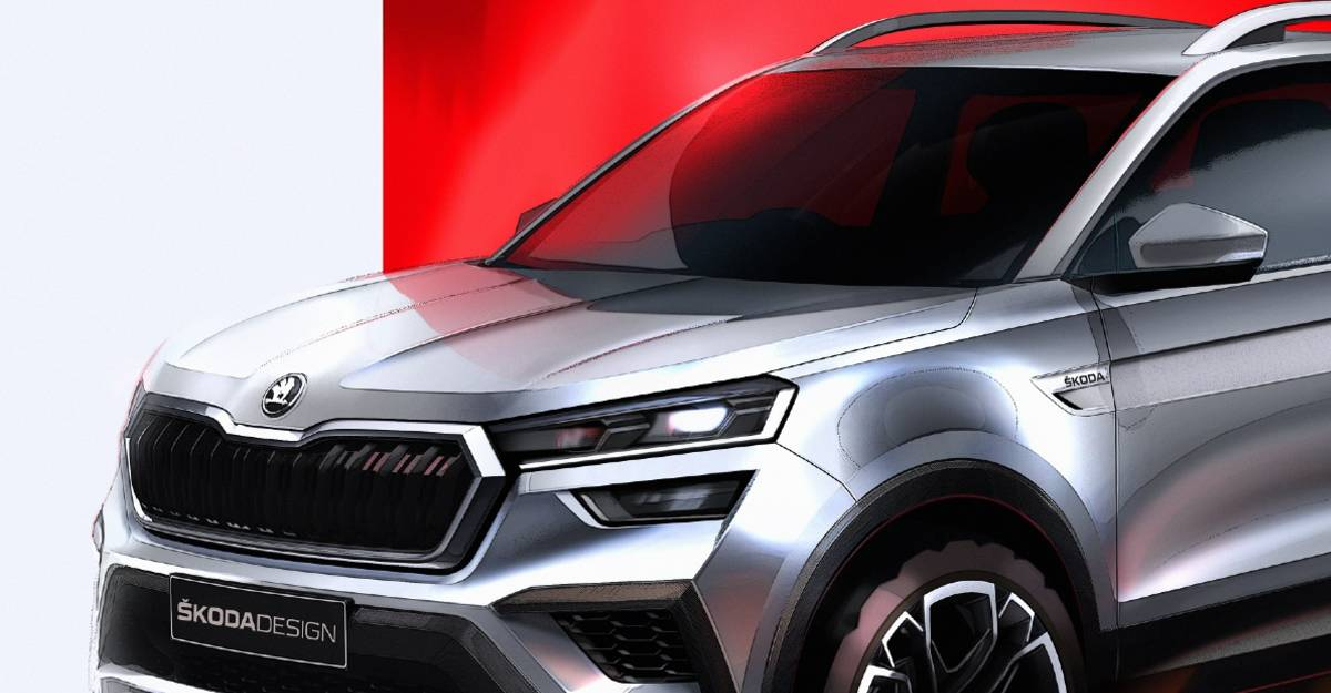 Skoda Kushaq compact SUV: Official sketches released ahead of March unveil