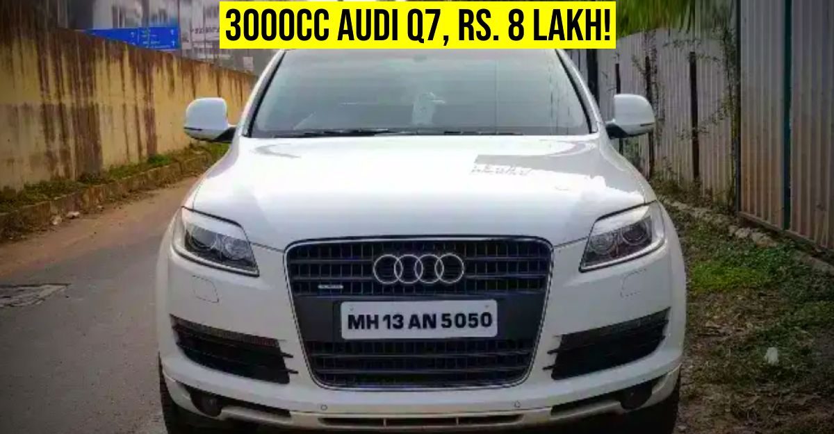 3 used Audi Q7 luxury SUVs selling for under Rs. 10 lakh