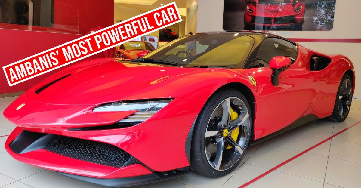 A closer look at the Ambanis' 1,000 PS Ferrari SF90 Stradale supercar