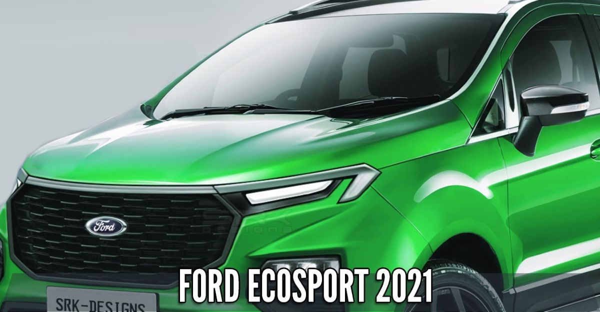 2021 Ford Ecosport rendered based on previous spy shots