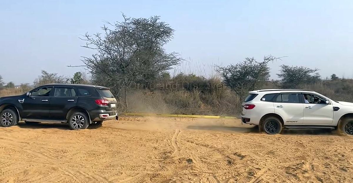 Ford Endeavour 3.2 taking on Endeavour 2.0 in a tug of war results in a big surprise
