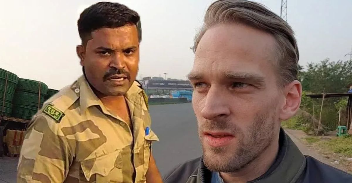 Indian Cop Busts foreign biker on Royal Enfield: What happened next would surprise you [video]