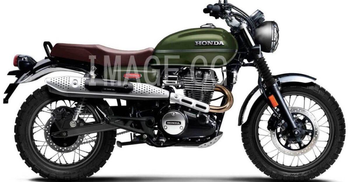 Honda CB350 H'ness based Scrambler: What it'll look like