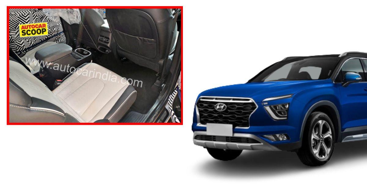 Upcoming Hyundai Alcazar SUV's interiors spied