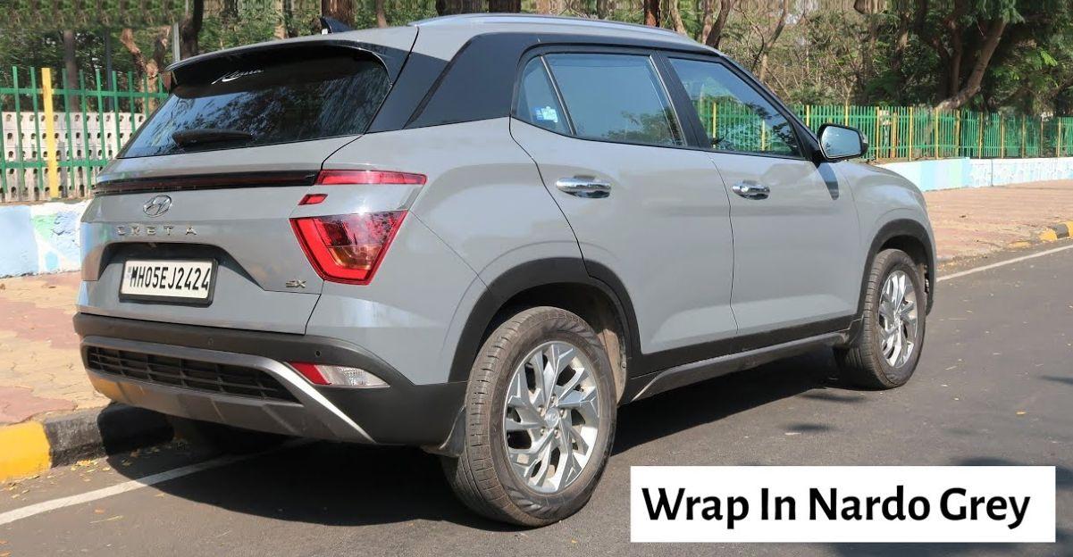 India's first new Hyundai Creta to get a Nardo Grey wrap
