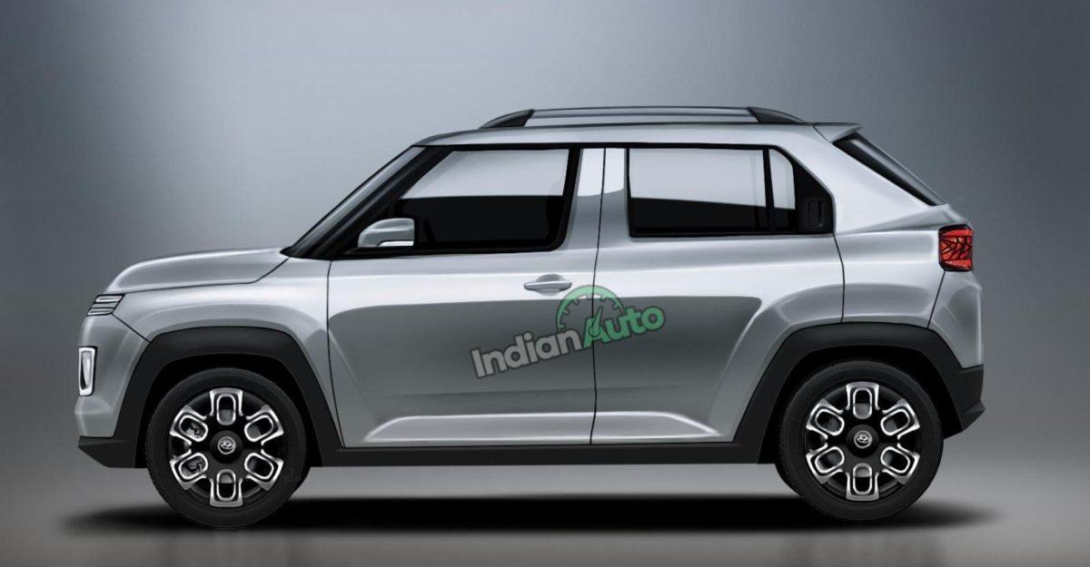 Hyundai AX1 micro-SUV: New render shows side profile