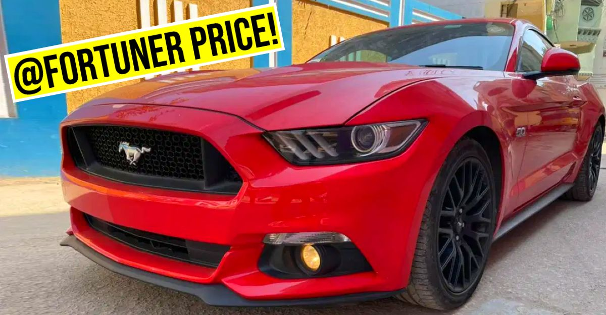India's CHEAPEST used Ford Mustang is selling at Toyota Fortuner prices