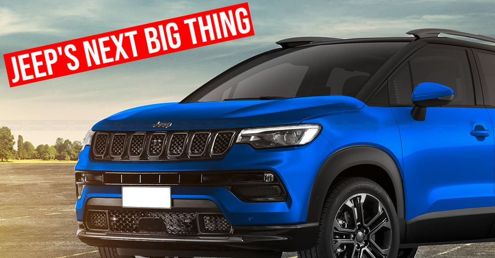 Jeep India's upcoming, sub-4 meter Compact SUV rendered