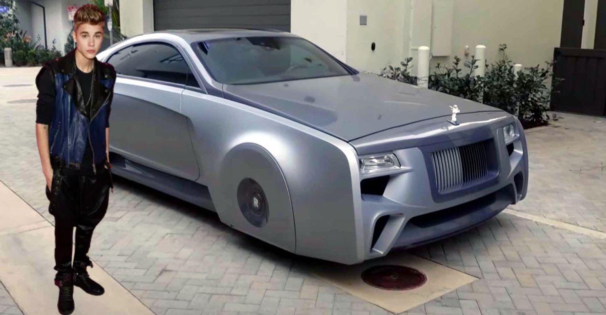 Justin Bieber's Floating Rolls Royce Wraith looks futuristic