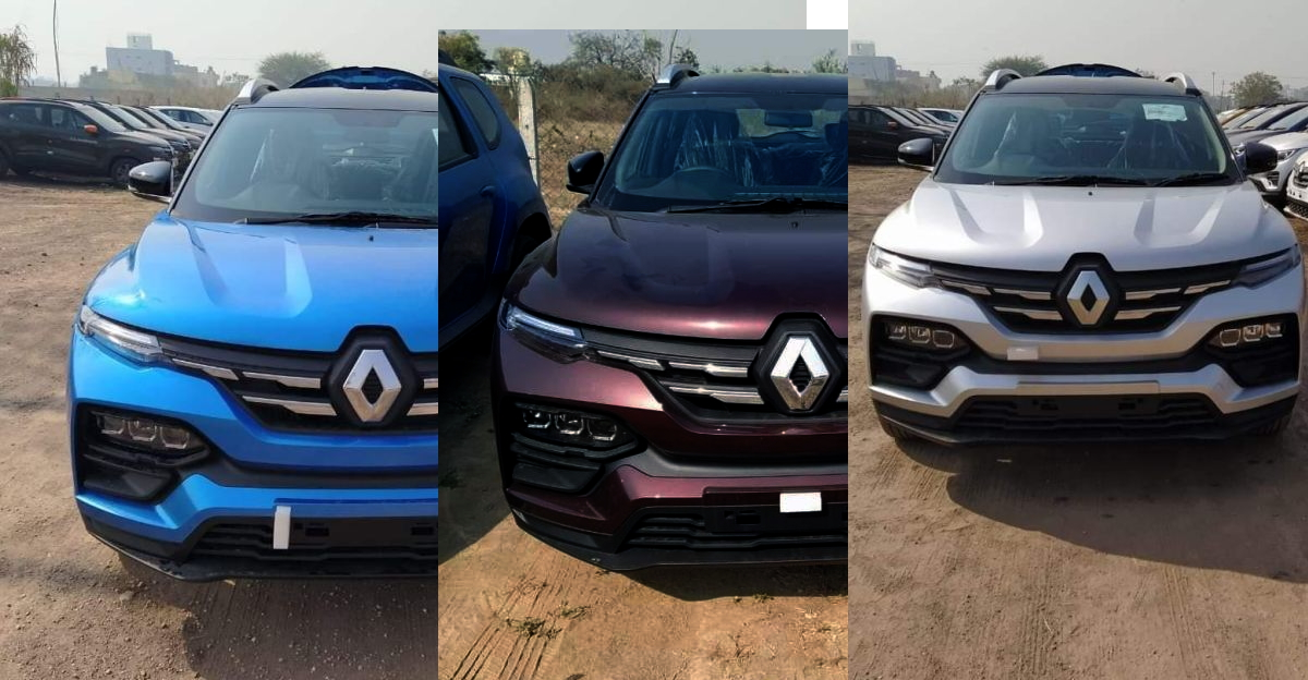 Renault Kiger in multiple colours: Blue, brown and silver