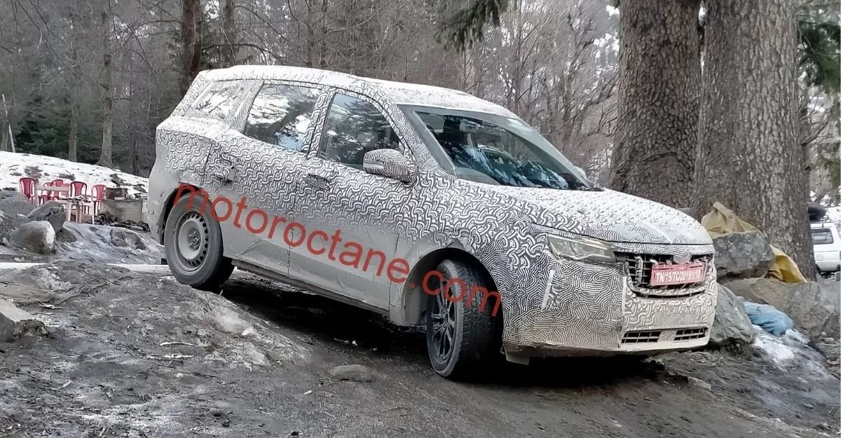 Production-spec all-new 2021 Mahindra XUV500 spied off roading