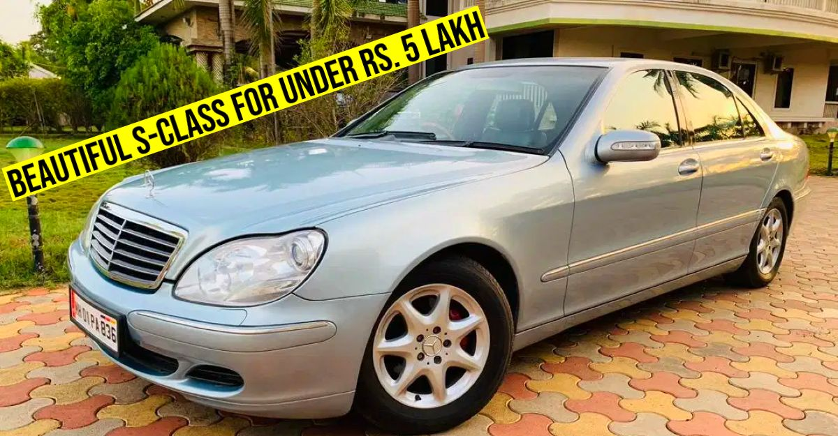Embassy-owned used Mercedes Benz S-Class selling for less than Rs. 5 lakh