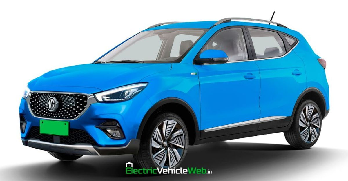 MG ZS electric SUV Facelift rendered ahead of 2022 launch