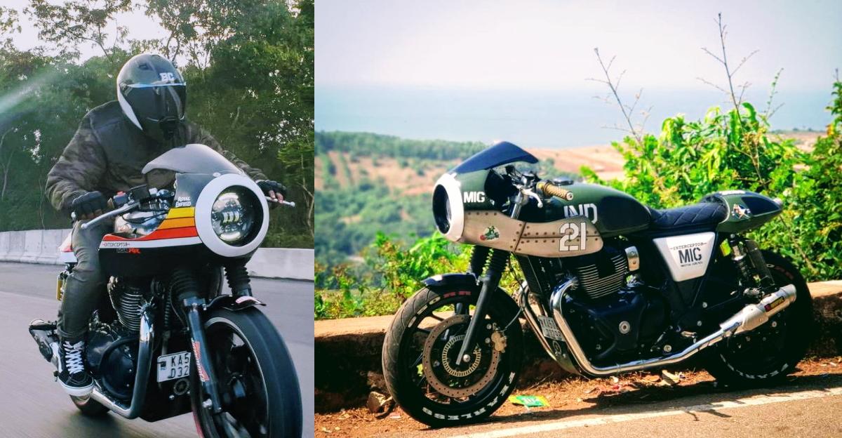 MIG-21 inspired RE Interceptor 650 motorcycle revealed by Bulleteer Customs