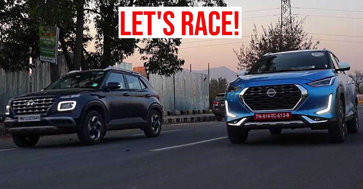 Nissan Magnite Turbo vs Hyundai Venue Turbo: Who's faster in a drag race?