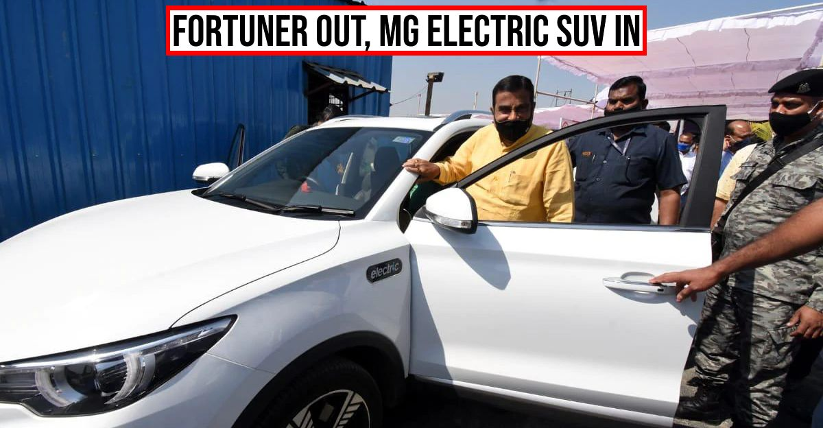 Union Highway Minister Nitin Gadkari dumps bulletproof Toyota Fortuner for MG ZS electric car