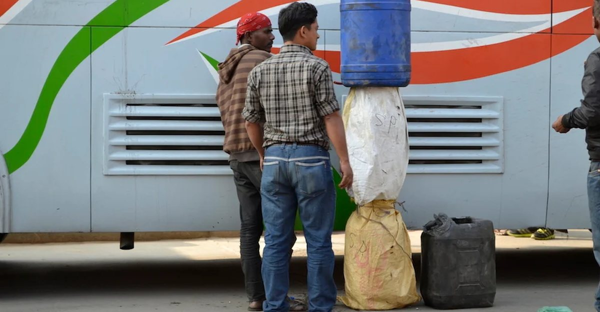 Petrol being smuggled to India from Nepal as it's Rs. 22 cheaper there