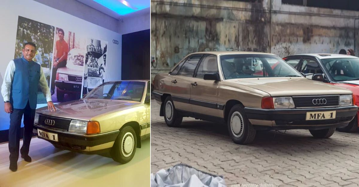 India's most famous Audi belongs to Ravi Shastri & it's 35 years old