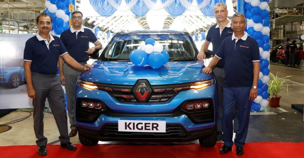 Renault India commences mass production of Kiger sub-4 meter compact SUV - CarToq.com