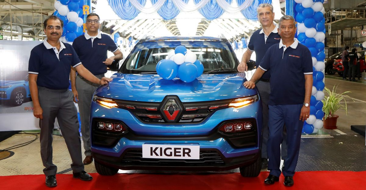 Renault India commences mass production of Kiger sub-4 meter compact SUV