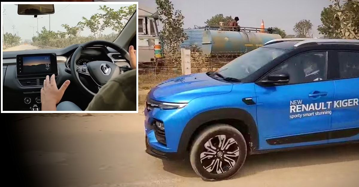 Renault Kiger Turbo in a first drive review video