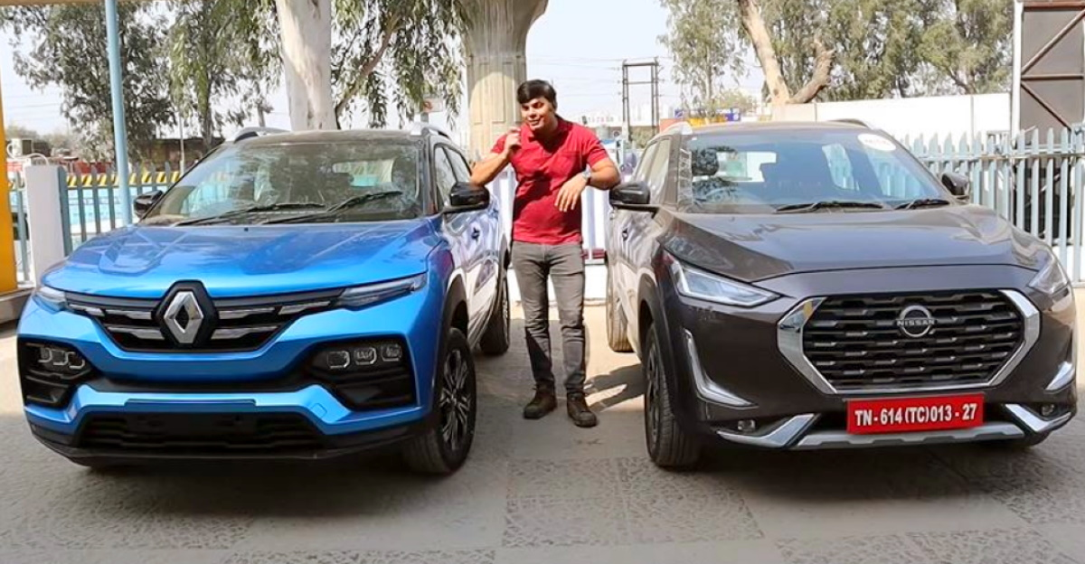 Renault Kiger & Nissan Magnite compact SUVs compared on video