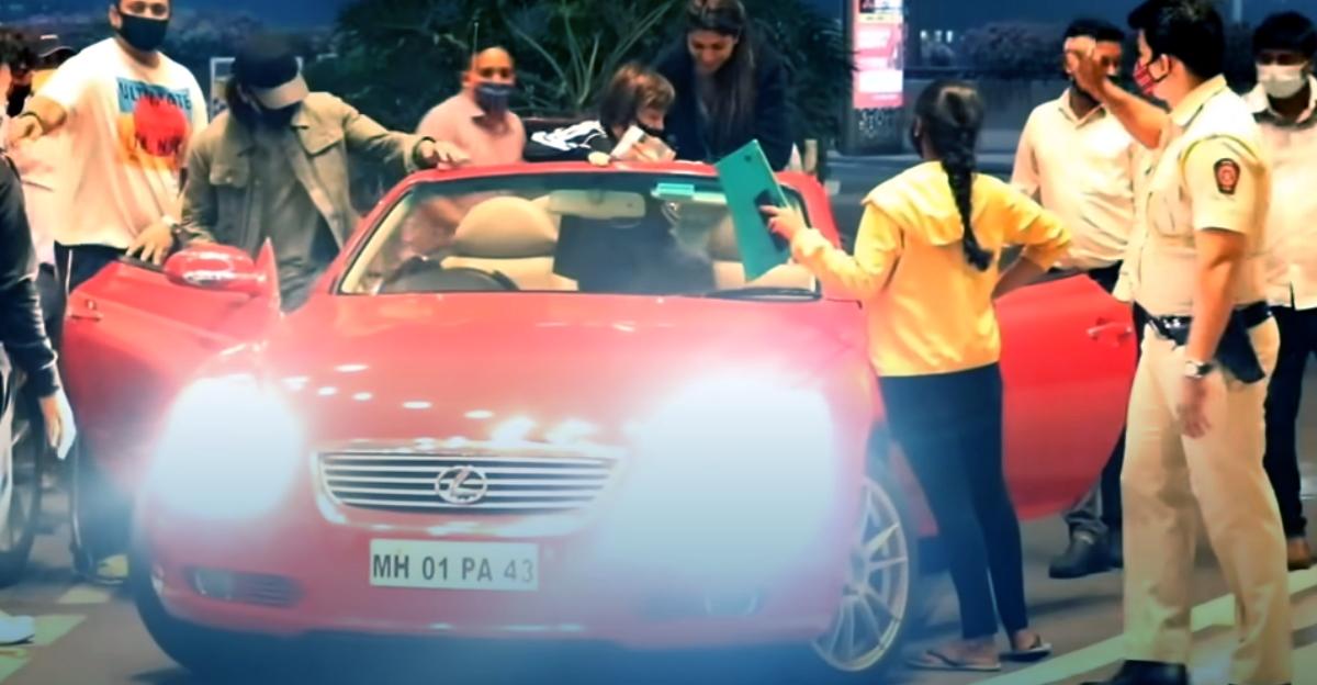 Shahrukh Khan's rare Lexus convertible spotted outside Mumbai airport