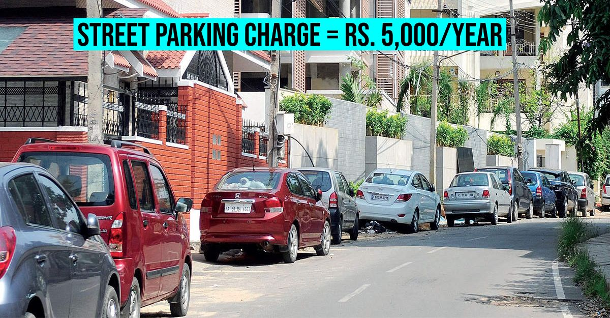 Want to park in front of your house? Pay Govt Rs. 5000/year