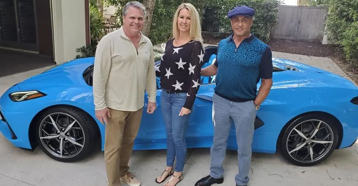 Hollywood actor Sylvester Stallone's latest ride is a Corvette C8 Convertible