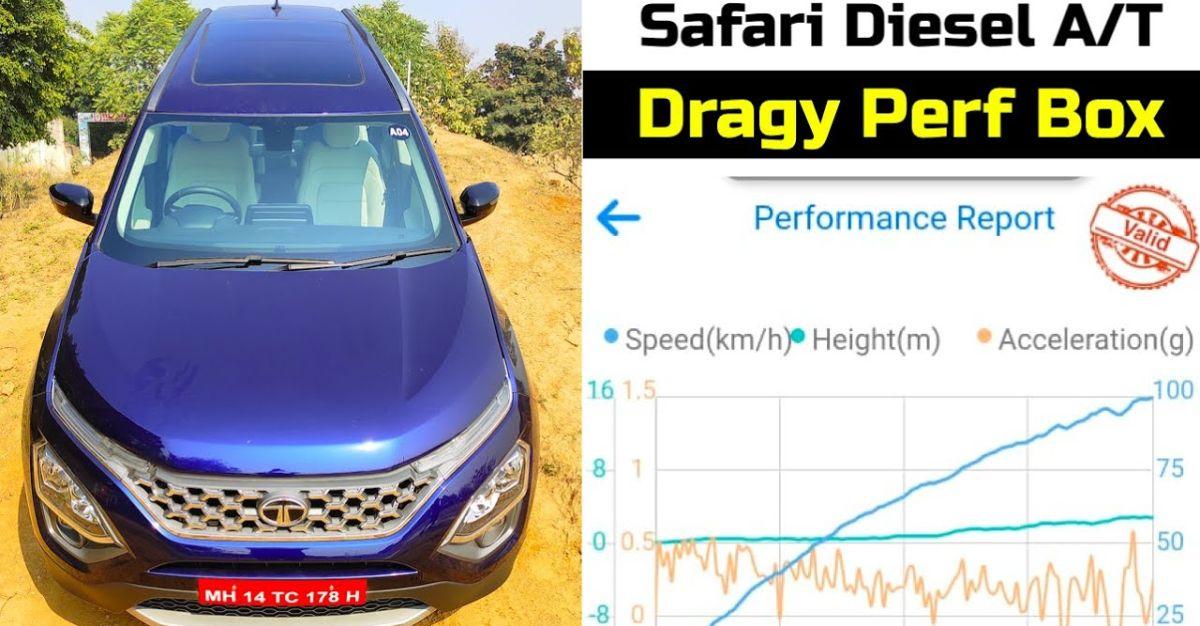 Tata Safari Diesel Automatic in an accurate 0-100 Kmph acceleration test