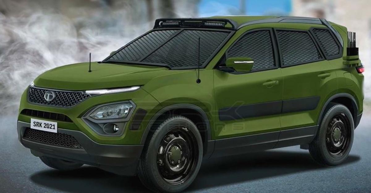 2021 Tata Safari imagined as an army vehicle