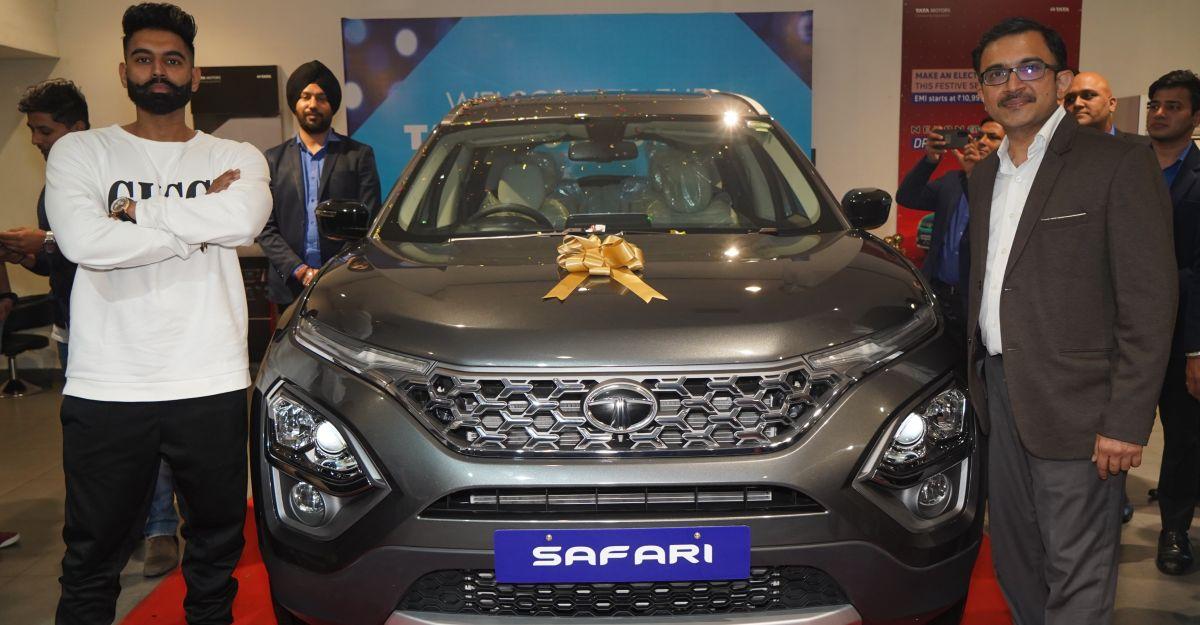 Tata Motors delivers 1st new Safari to actor, singer & director Parmish Verma in Punjab