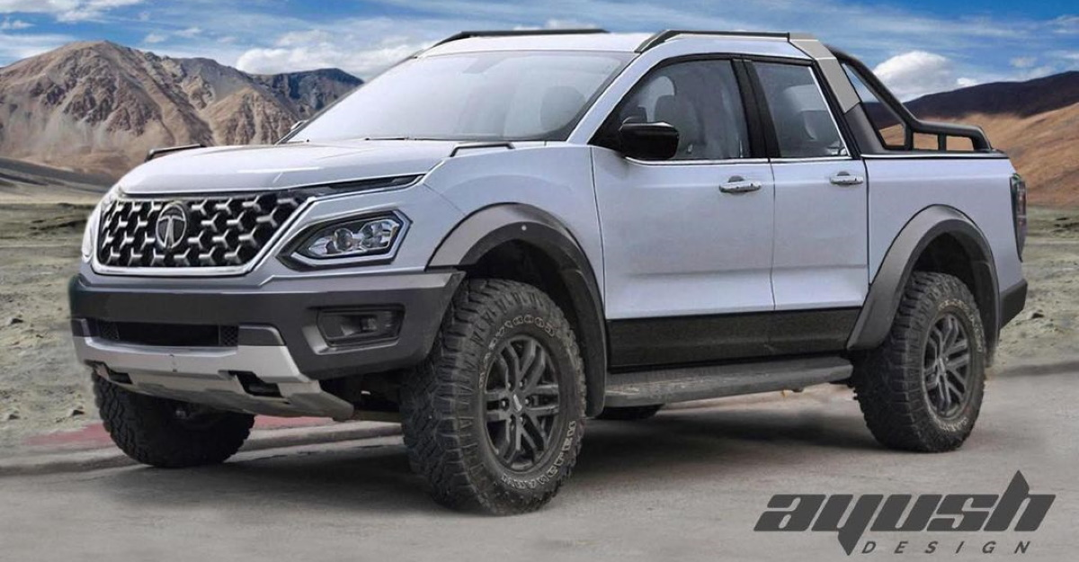 2021 Tata Safari as a Pickup Truck: What it would look like