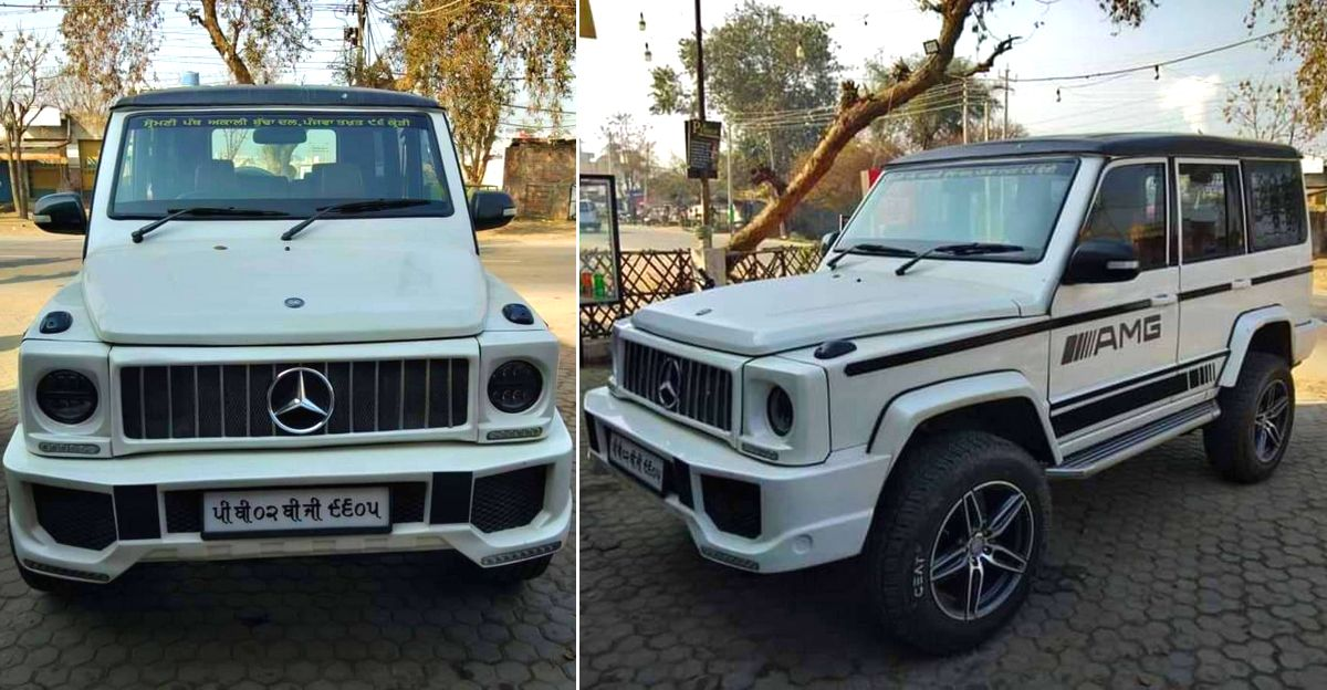This Mercedes-Benz G-Wagen is actually a Tata Sumo