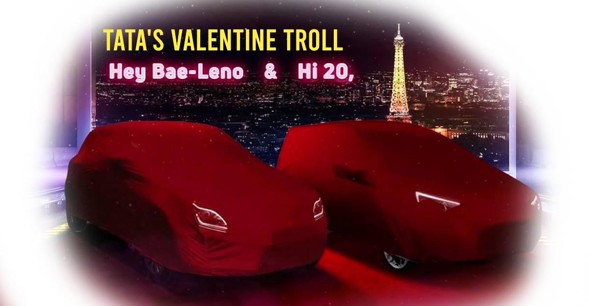 Tata Altroz trolls Maruti Baleno & Hyundai i20 in Valentine's Day TVC